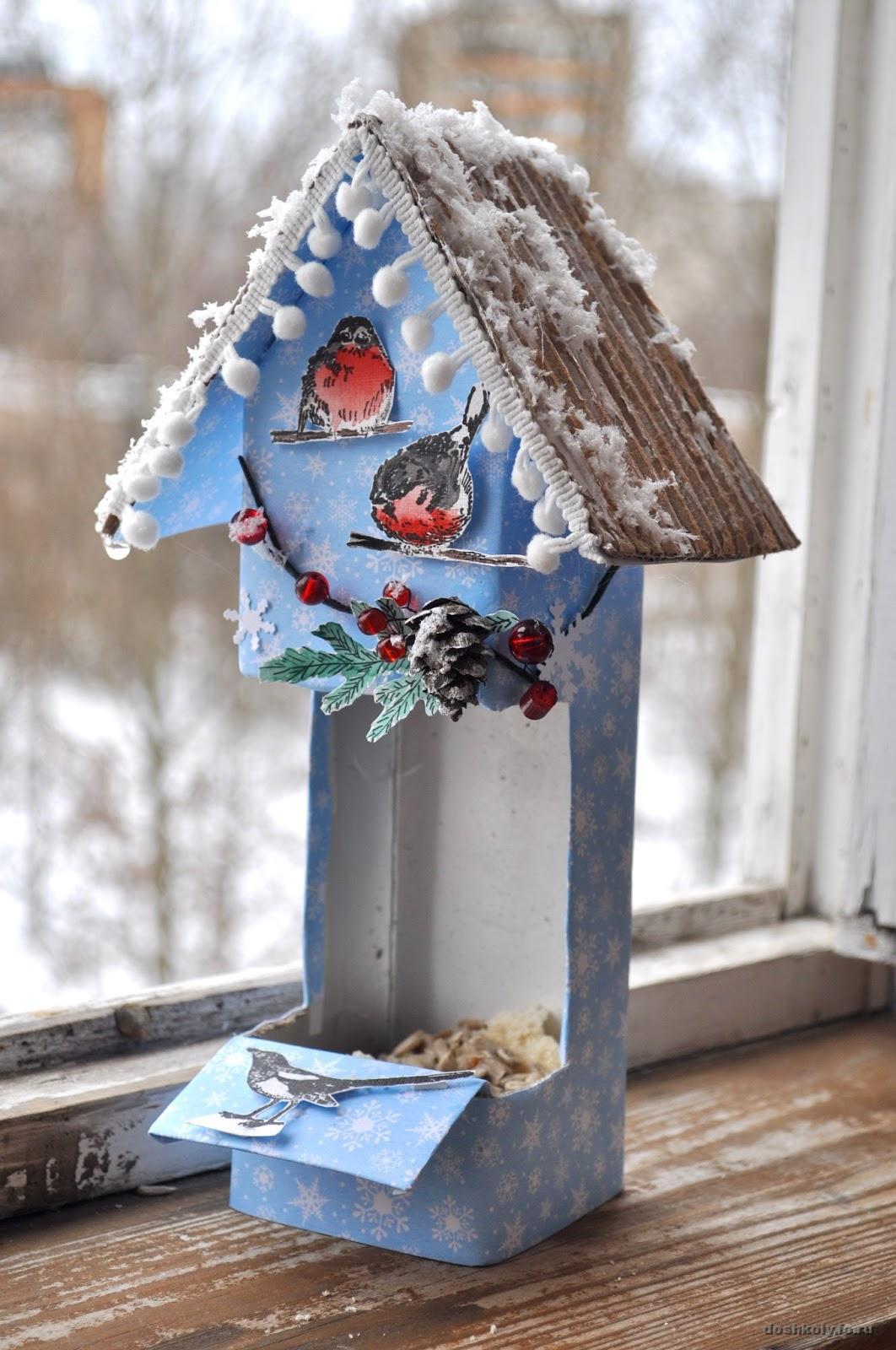 Скворечник для птиц своими руками из коробки
